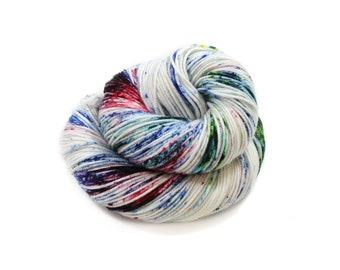 Hand Dyed Yarn - DK Weight - Dyed Yarn - 100% Superwash Merino - 200 Yards - Frozen Speckles