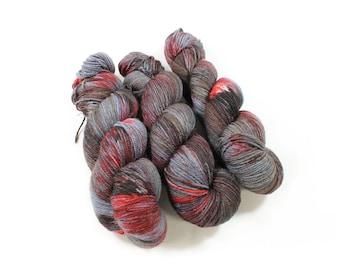 Hand dyed yarn - Corriedale Wool -   - hand dyed fingering weight yarn - 400 yards - Sock Yarn - fingering weight yarn - Murderino