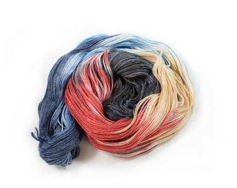 Hand dyed Yarn - Hand painted yarn - dyed yarn - hand dyed fingering weight yarn - 400 yards - fingering weight yarn - A Good Book