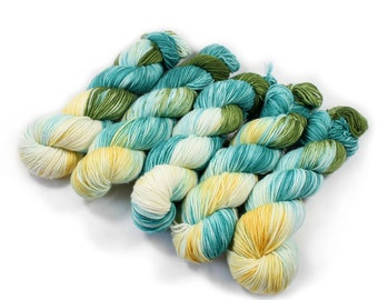 Hand Dyed Yarn - Dyed Yarn - 100% Superwash Merino - DK Weight - 200 Yards - Seaside