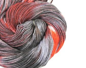 Hand Dyed Yarn - Dyed Yarn - 100% Superwash Merino - DK Weight - 200 Yards - Murderino