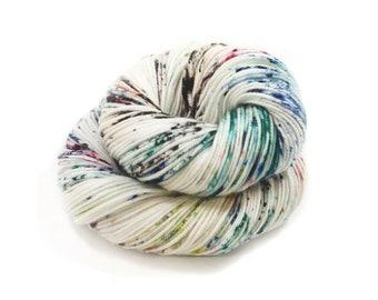 Hand Dyed Yarn - DK Weight - Dyed Yarn - 100% Superwash Merino - 200 Yards - Lovely Lake Speckles