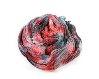 Hand dyed yarn - Corriedale Wool - hand dyed fingering weight yarn - 400 yards - Sock Yarn - fingering weight yarn - Santa Barbara sunset