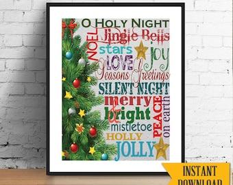christmas printable instant download subway art design miniposters diy printable christmasprintable christmas holidayart - Subway Christmas Eve Hours