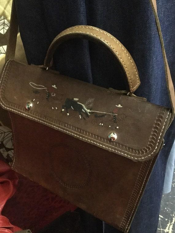 9bd995c8af7d Very vintage handmade leather bag
