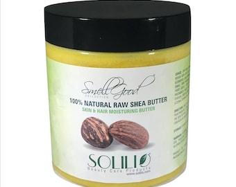 SmellGood - 8oz Jar Unrefined African Shea Butter, Yellow