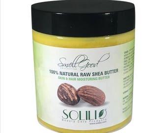 SmellGood - 16oz Jar Unrefined African Shea Butter, Yellow