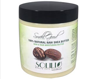 SmellGood - 8oz Jar Unrefined African Shea Butter, Ivory