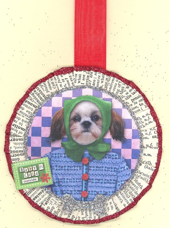 Shih Tzu Dog Vintage Style Christmas Ornament Etsy