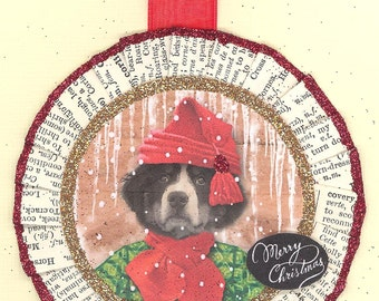 Bernese Mountain Dog | Dog Christmas Ornament | Vintage Style | VictorianStyle