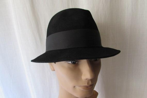 Vintage Fecora Dobbs Felt Fur size 7 1 4 clean retro high  e93a3d99c04