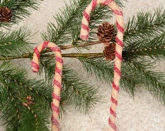 Candy Cane, Candy Cane Ornament, Primitive Candy Cane Ornament