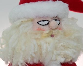 Handmade Santa, Handmade Santa Doll, Whimsical Santa, Santa Doll, Fabric Santa, OOAK Santa