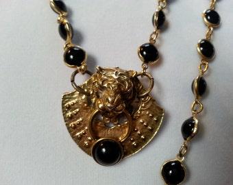 Bold Vintage Assemblage Statement Necklace