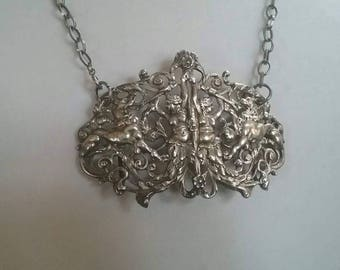 Victorian Statement Necklace,  Repurposed Jewelry