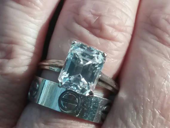 Classic Emerald Cut Solitaire, Vintage Emerald Cut
