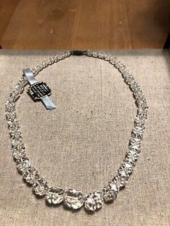 Genuine Rock Crystal Necklace, Antique Rock Crysta