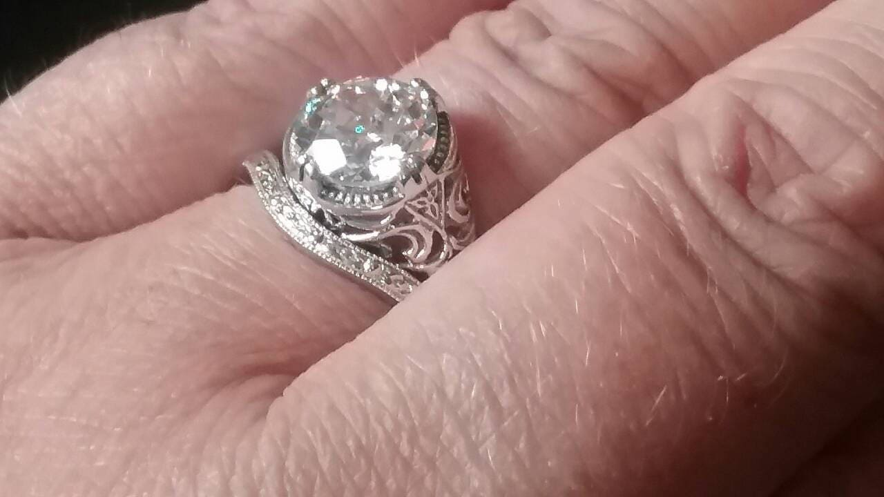Engagement Ring Set Antique Reproduction Engagement Ring