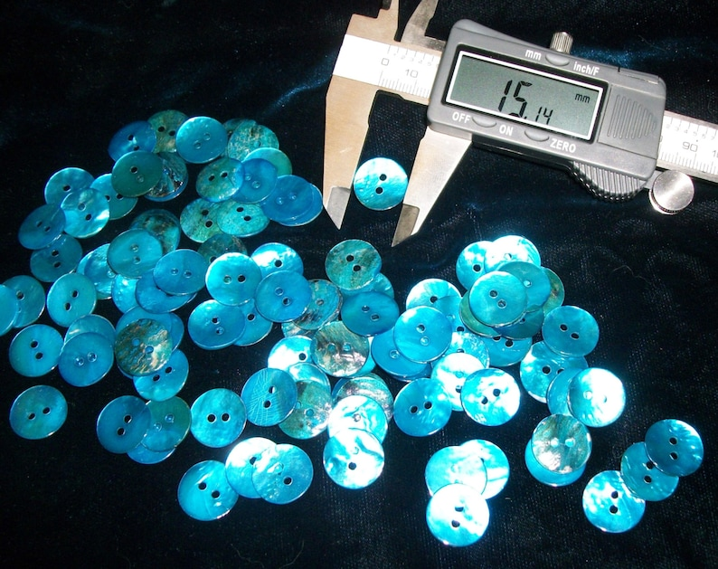 Gorgeous! Now 2 hole 200 1932 Blue Shell Buttons