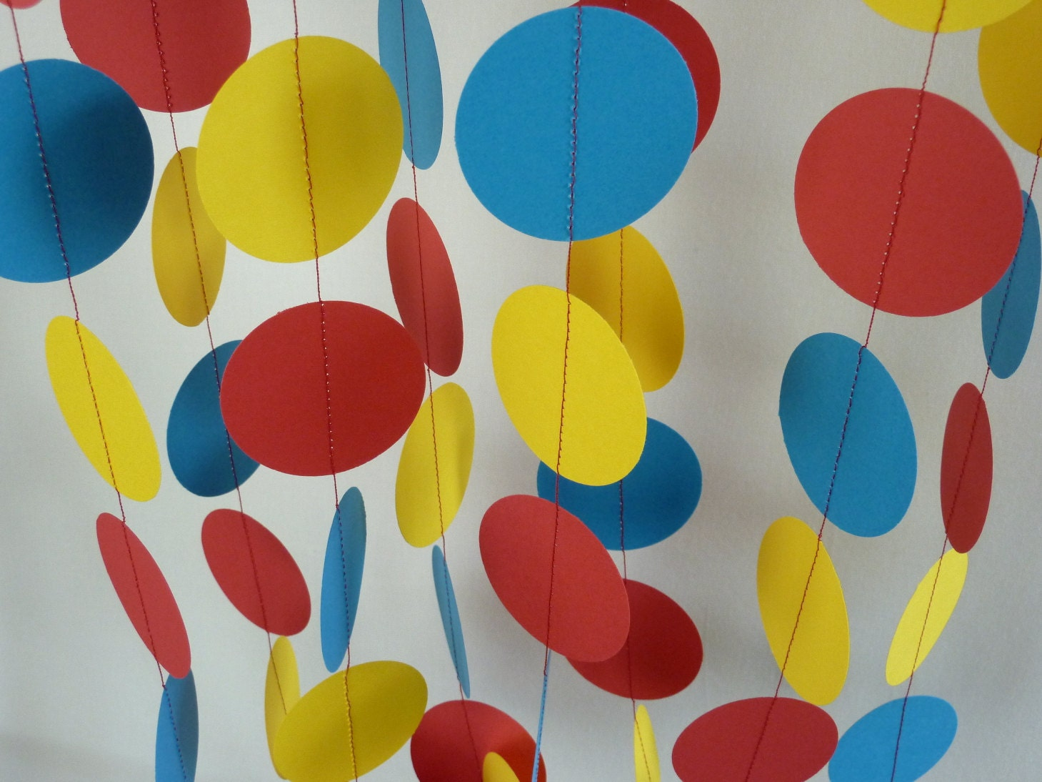 Red Yellow Blue Childrens Birthday Party Decoration Etsy