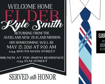 LDS Elder Missionary Homecoming Invitation 5x7 Printable File