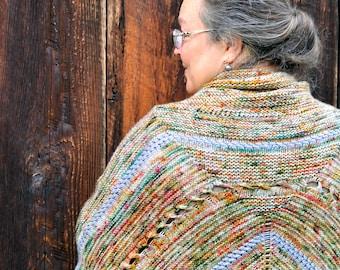 Poncho knitting pattern - Bonfire Poncho