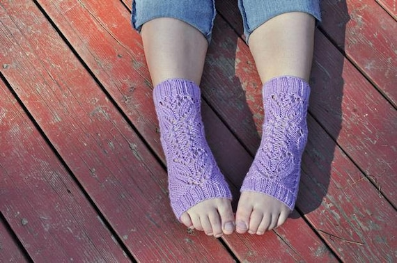 Tulip Lace Yoga Socks Knitting Pattern Instant Download Etsy