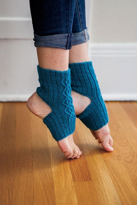 Yoga Socks Knitting Pattern Breathe Double Cable Yoga Etsy