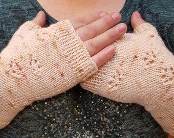 Fingerless Mitts knitting pattern - My Cat Walks All OVer Me Mitts