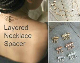 Layered Necklace Spacer Clasp Layered Necklace Spacer Detangler DIY Accessories
