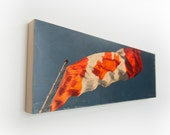 """Canadian Flag Limited Edition Fine Art Photo Transfer 'O Canada' on 10""""x30""""  Wood Panel by Patrick Lajoie"""