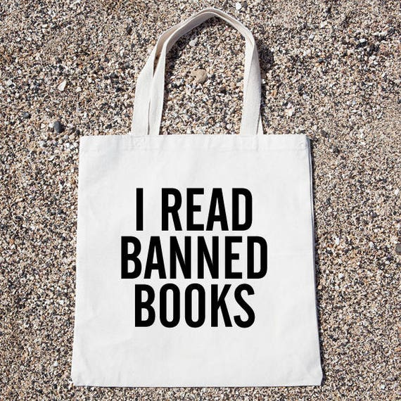 f2963e3e4142 I Read Banned Books Tote Bag Gift For Reader Funny Canvas Bag