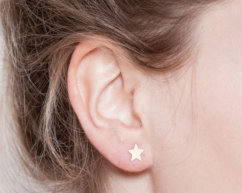c4f7504da Tiny Star Earrings Star Stud Earrings Gold Star Earrings | Etsy