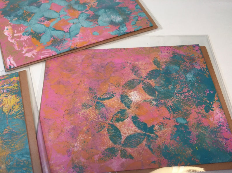 Handmade Note Cards-5 Painted Cards-Original Art Note Cards-Blank Cards with Envelopes-Blank Note Cards--6 X 4 inches