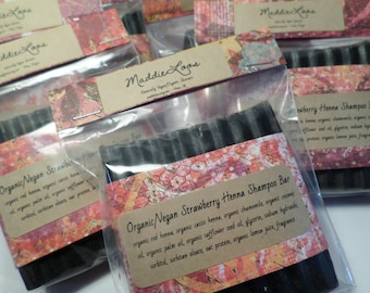 FREE SHIPPING/Vegan/Organic Strawberry Henna Shampoo Bar-Light Golden Red-Organic  Henna-conditions as it adds shine, and color-very gentle