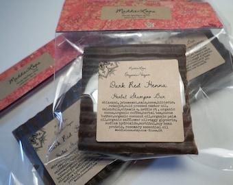 FREE SHIPPING/Vegan/Organic-Dark Red Henna Herbal Shampoo Bar-Organic Henna-Herbs to Strengthen-Protect-Reduce Hair Loss-Condition