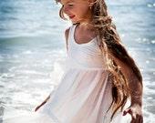 Ivory flower girl Dress beach wedding