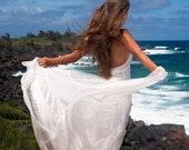 Junior Bridesmaid Beach Wedding flower girl White Boho Dress