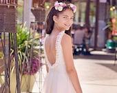 Gold Junior Bridesmaid Sparkle Flower Girl Tulle dress