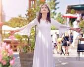First Communion Dress Boho Lace Flower Girls Dress Junior Bridesmaid