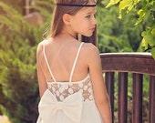 Ivory Lace Flower Girl Dress Junior Bridesmaid