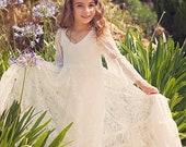 White Lace First Communion Dress