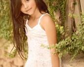 Boho Sequin Flower Girl Dress