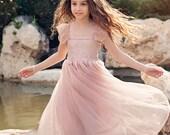 Dusty Pink Flower Girls Dress