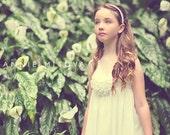 Boho Ivory Flower Girl Dress