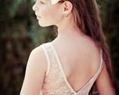 Blush Lace Flower Girl Dress, Flower Girl Dress V Back, Special Occasion Dress, Wedding Dress,  Christmas, pink dress, blush lace dress