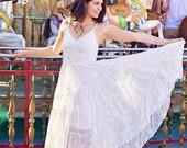 Boho Wedding Dress Sequin Junior bridesmaid