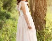 Maxi Blush Pink Flower Girls Dress Flower Girl Dress, Wedding Dress Dusty Pink Flower Girl Dress,Rustic Wedding,Bohemian ,Birthday Dress