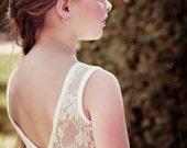 Ivory Lace Flower Girl Dress Bohemian Wedding