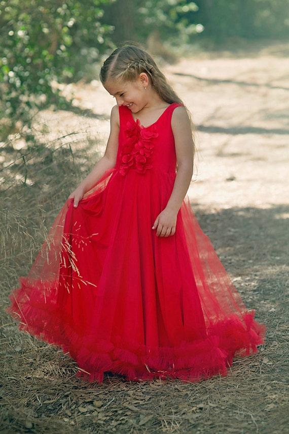 image 0 - Girls Red Christmas Dress